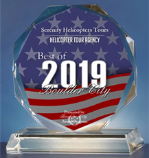 2019 Best of Boulder City Award - Helicopter Tour Agency